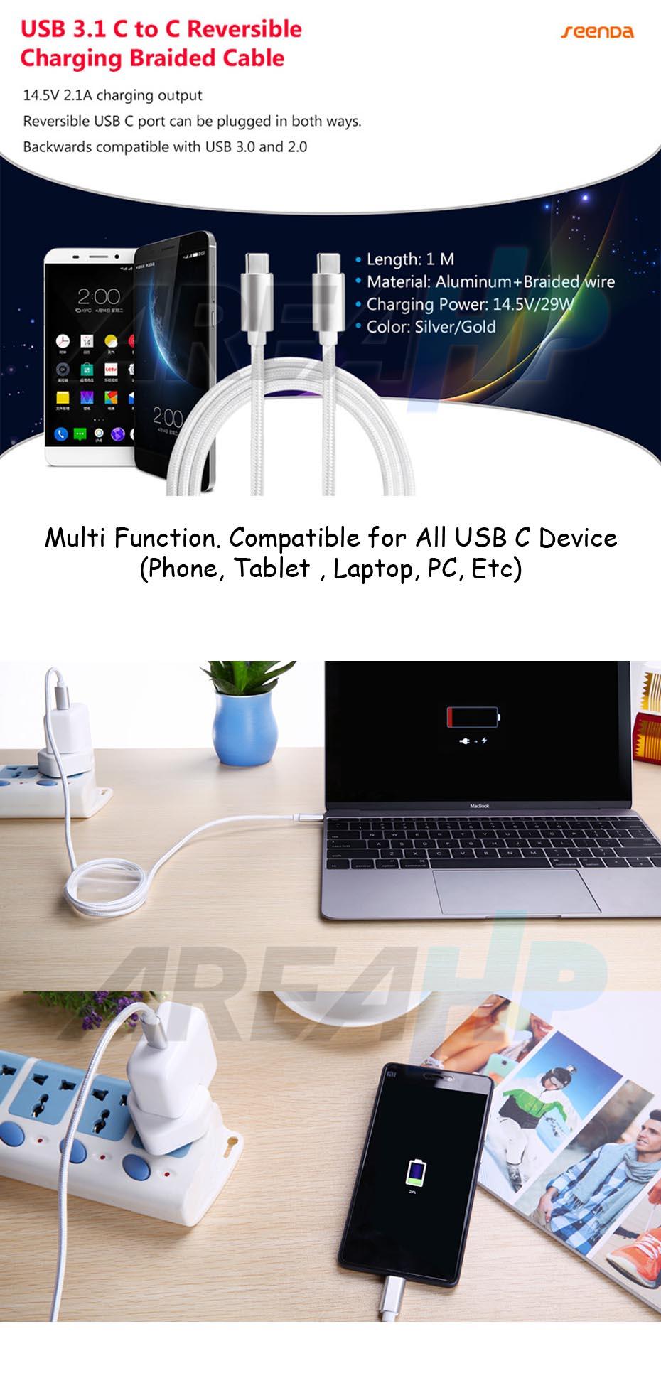 Seenda USB C to USB C Cable IPS-11C Overview