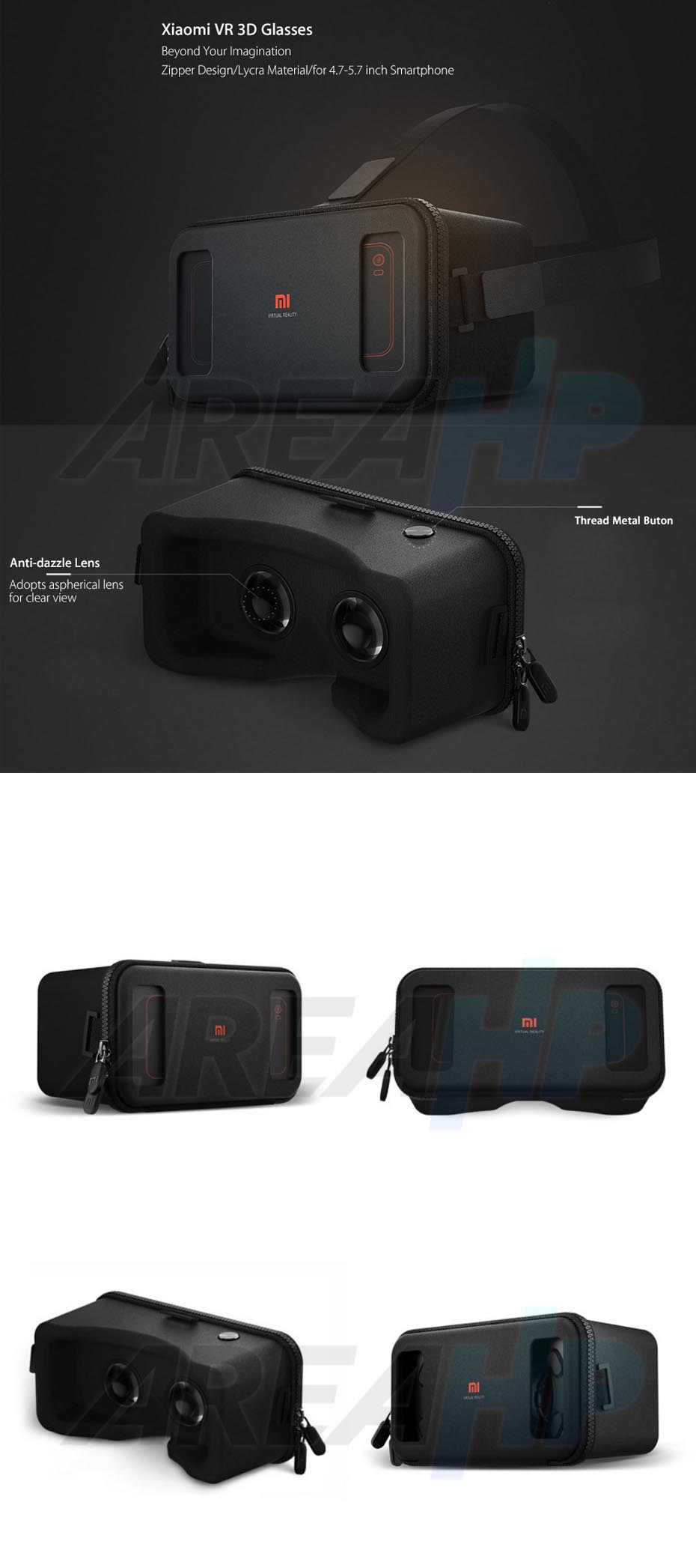 Xiaomi VR Glass 3D Virtual Reality Headset Glasses (Original) Overview