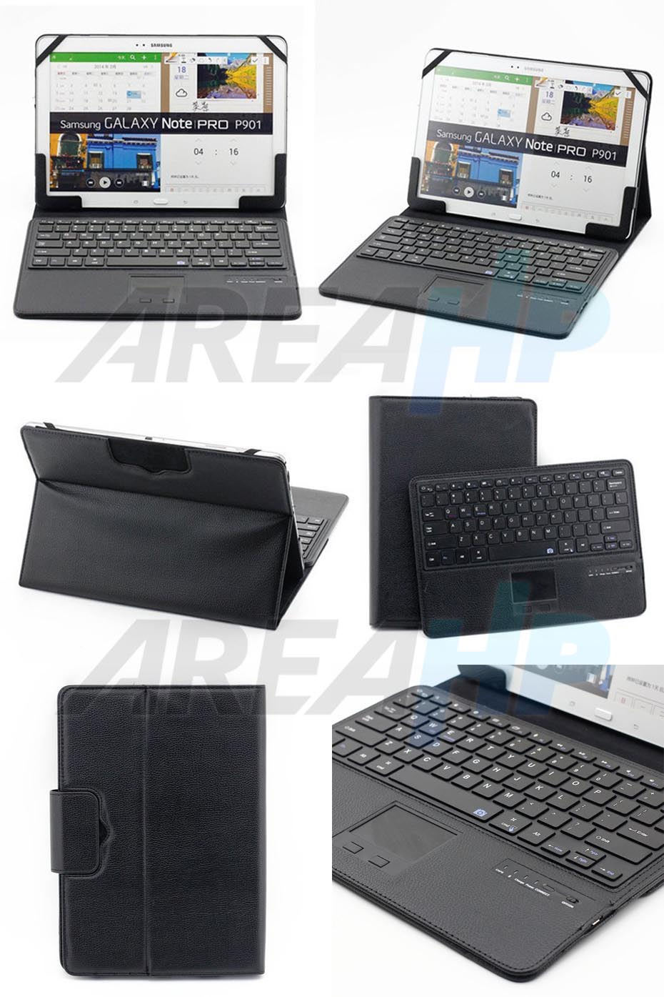 Universal Keyboard Bluetooth Touchpad Case for Tablet 11-12 Inch Overview
