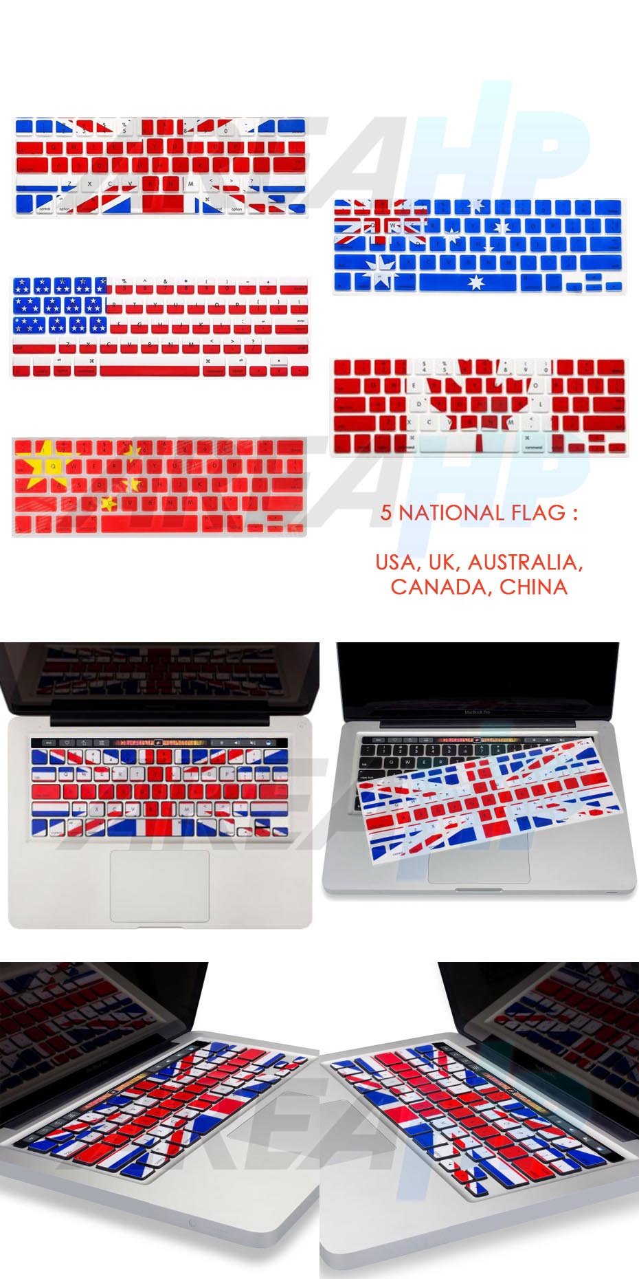 Keyboard Protector Country Flag Macbook Pro Touchbar Overview