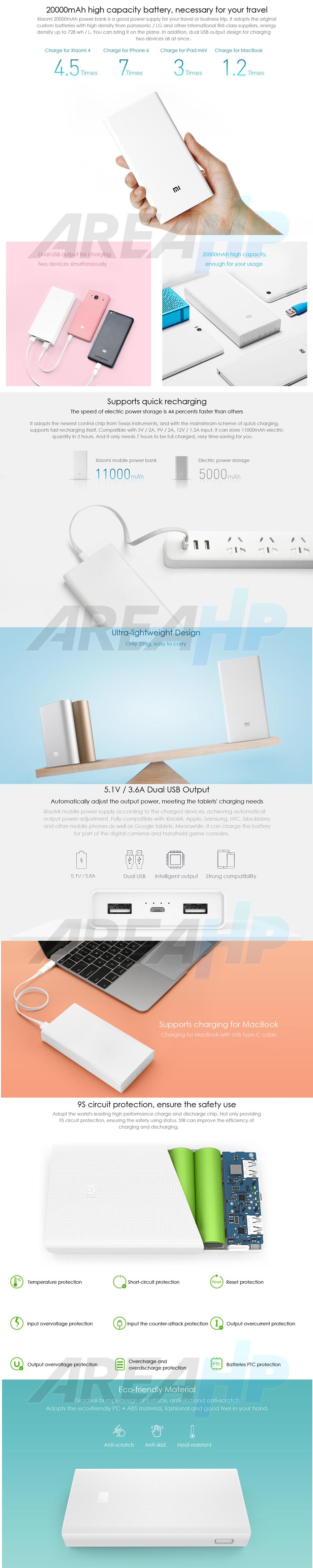 Powerbank Xiaomi Pro 2 20000mAh Fast Charger (Original) Overview