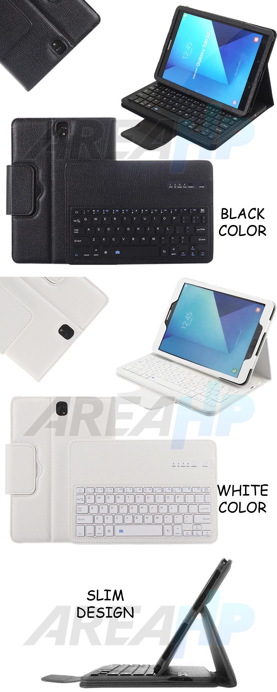 Removable Keyboard Leather Case for Samsung Galaxy Tab S 3 9.7 Overview