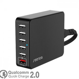 Seenda Universal Quick Charger 2.0 7A 6 Port USB for All Phone, Tablet ICH-03QC35