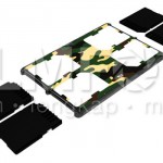Memory Card Case Slim Camo for 4 SD Card