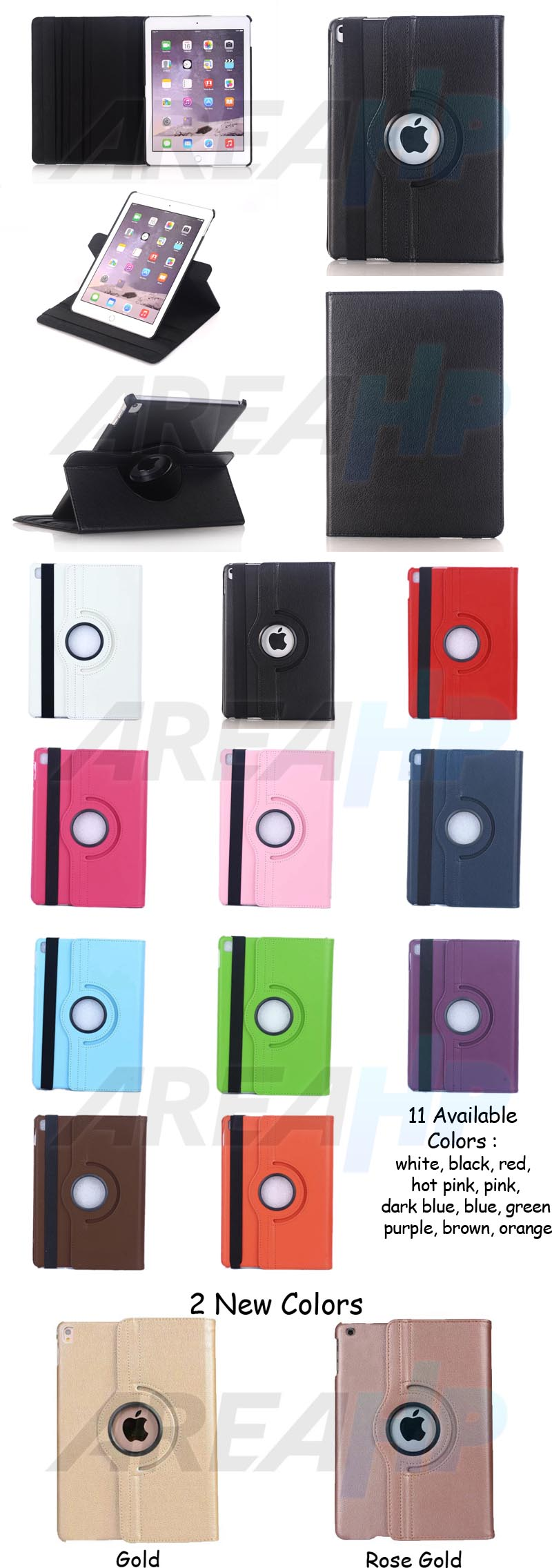 Rotate Case 360 (Leather) for iPad Mini 1, 2, 3 Overview