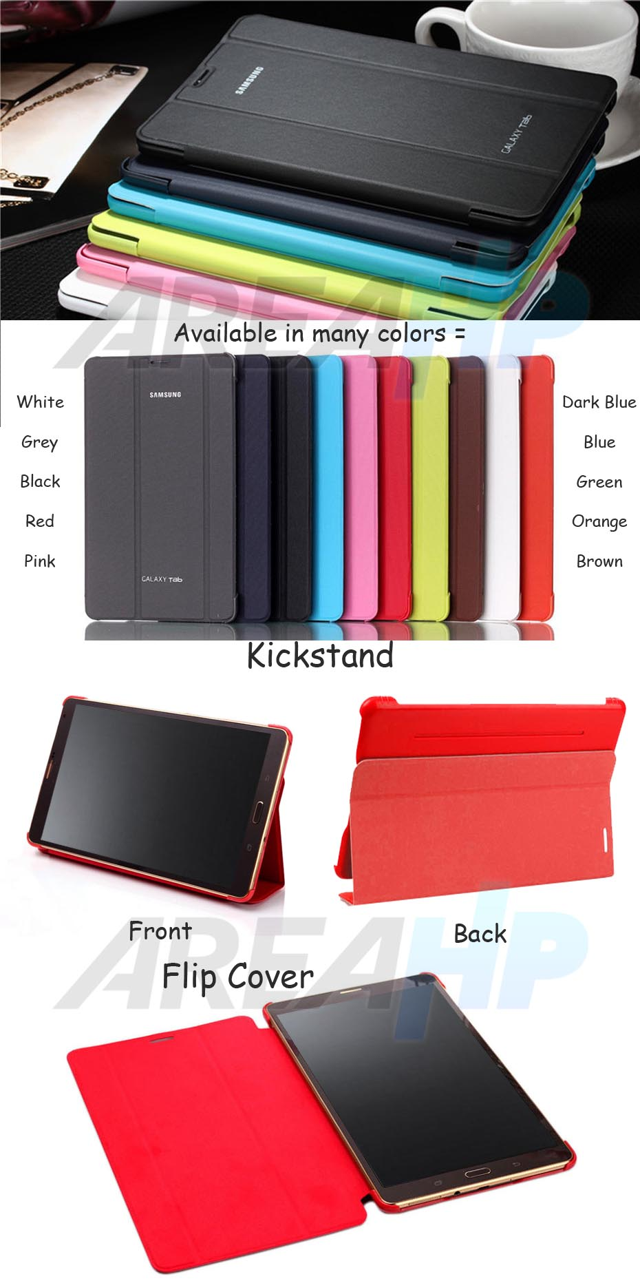 Book Cover Case for Samsung Galaxy Tab A 7.0 2016 Overview