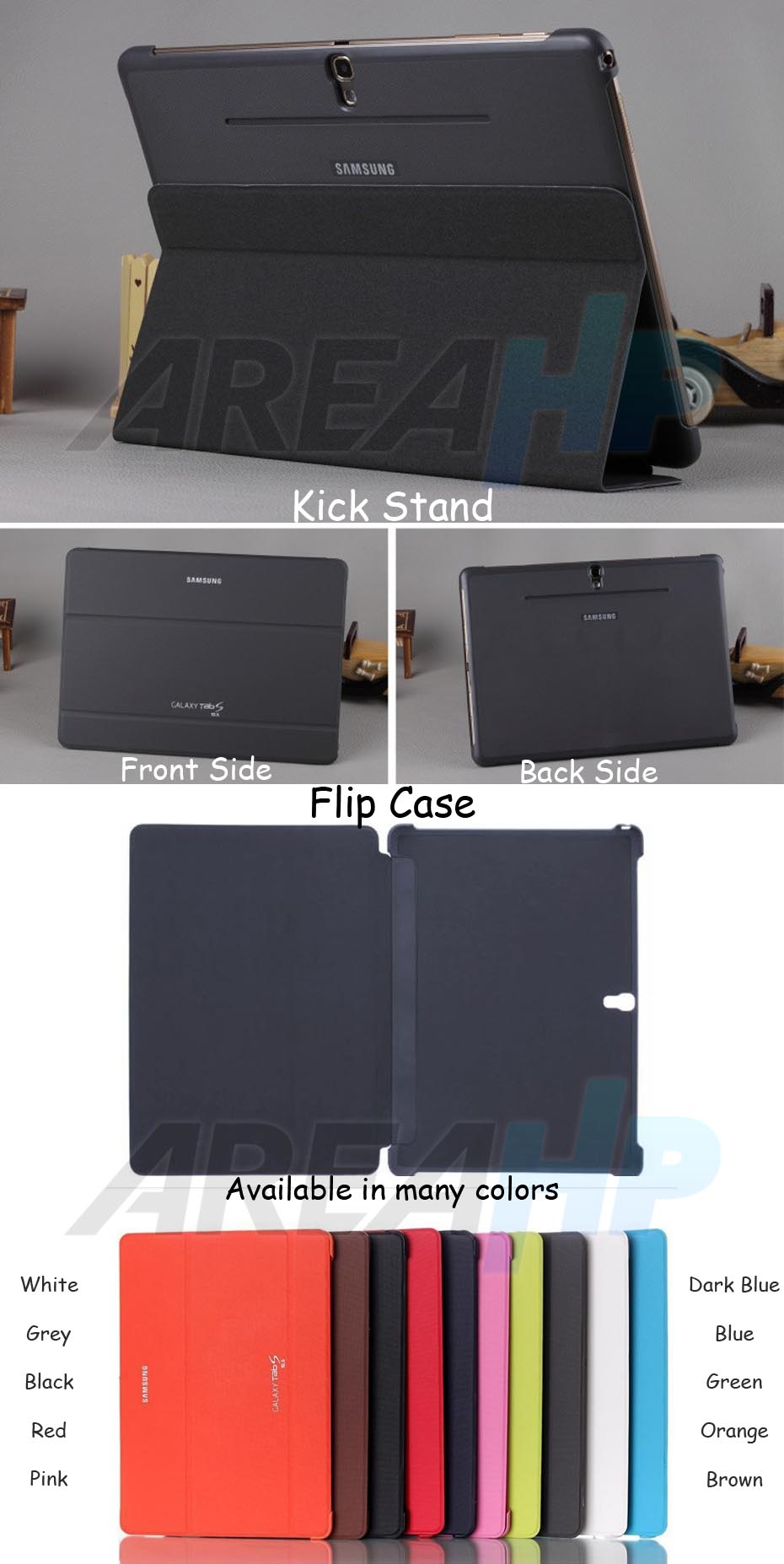 Book Cover Case for Samsung Galaxy Tab S 10.5 T800 Overview