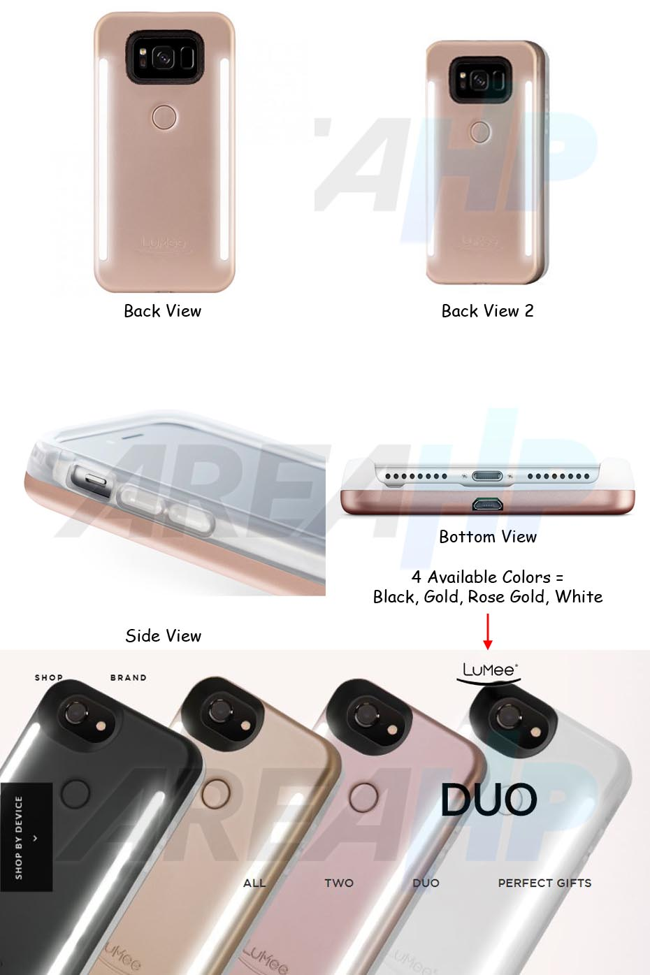 separation shoes ceb9b a9ec7 AREAHP | Lumee Selfie DUO LED Light Case for Samsung Galaxy S9