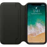 Leather Folio Case iPhone X Black ORIGINAL BNIB