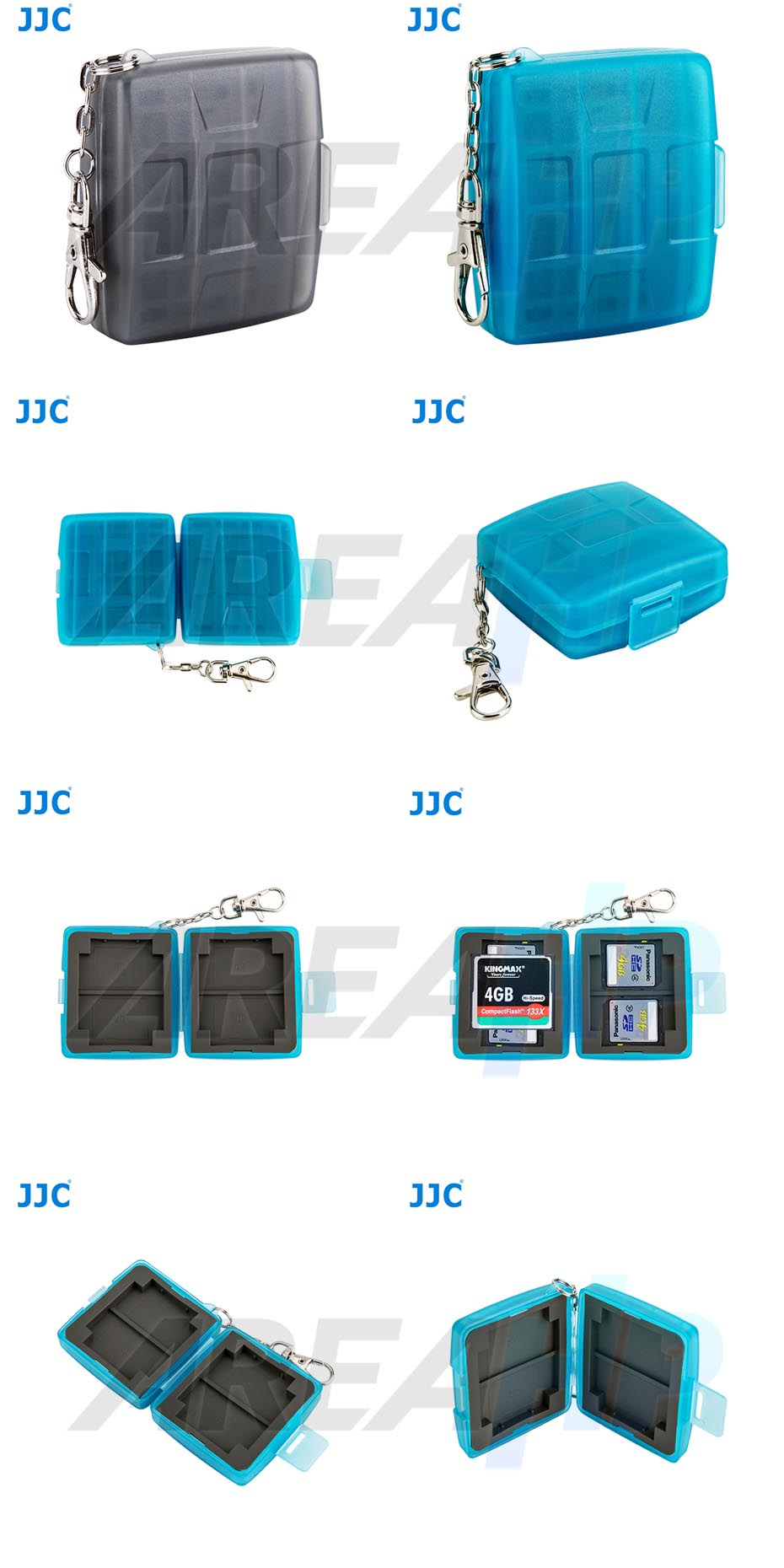 Memory Card Case Small CF 2 SD 4 Overview