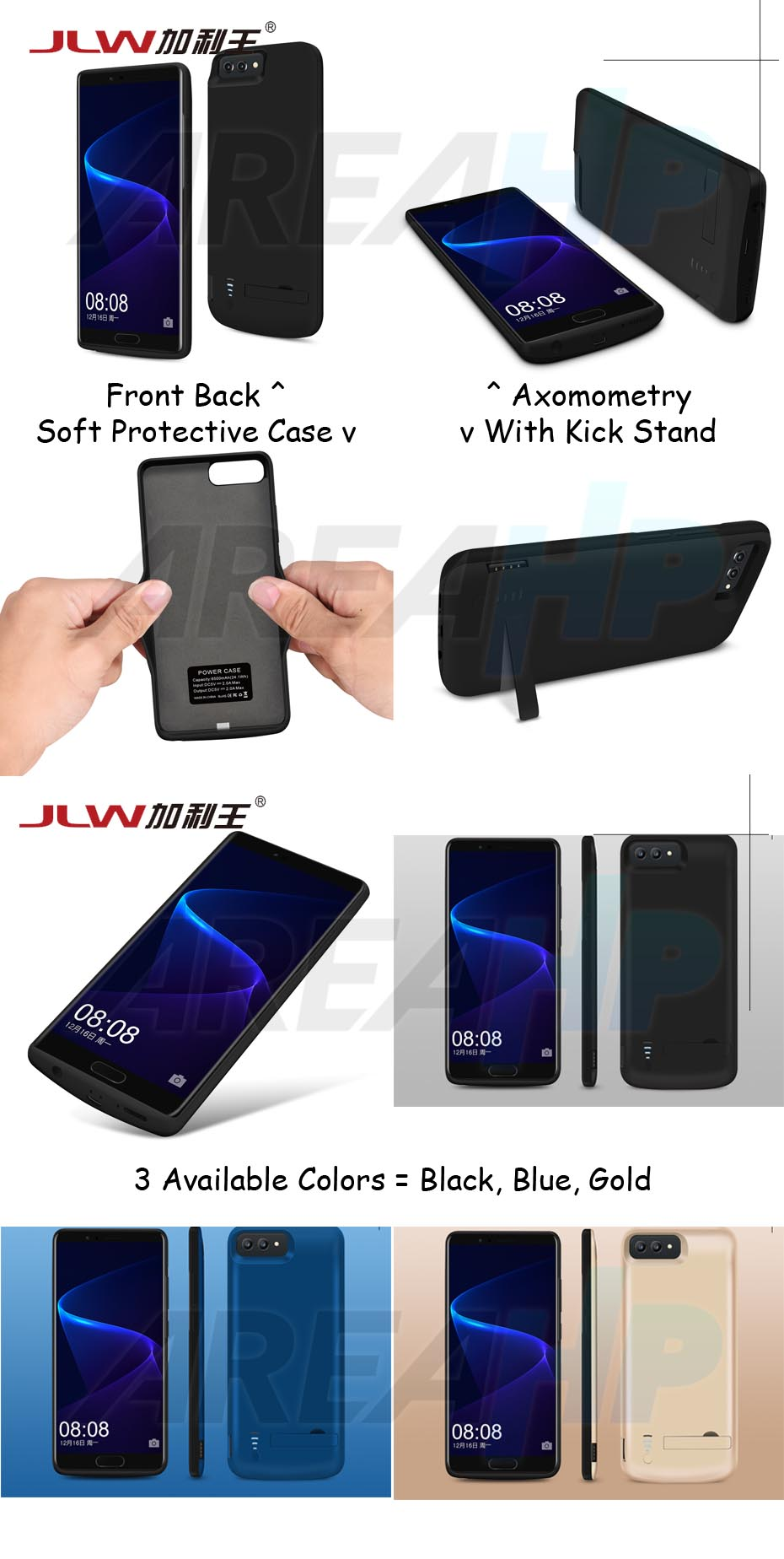 Power Case 6000mAh For Huawei V10 Overview