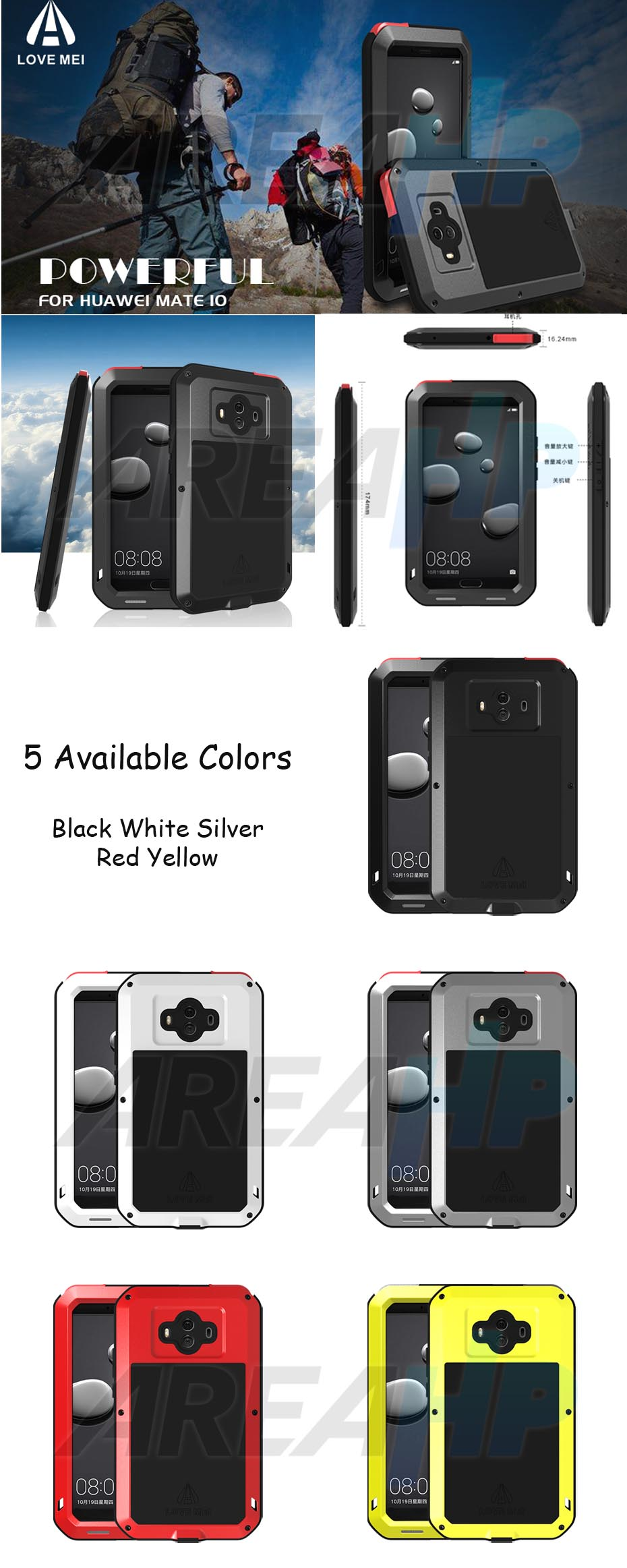 Love Mei Powerful Case for Huawei Mate 10 Overview