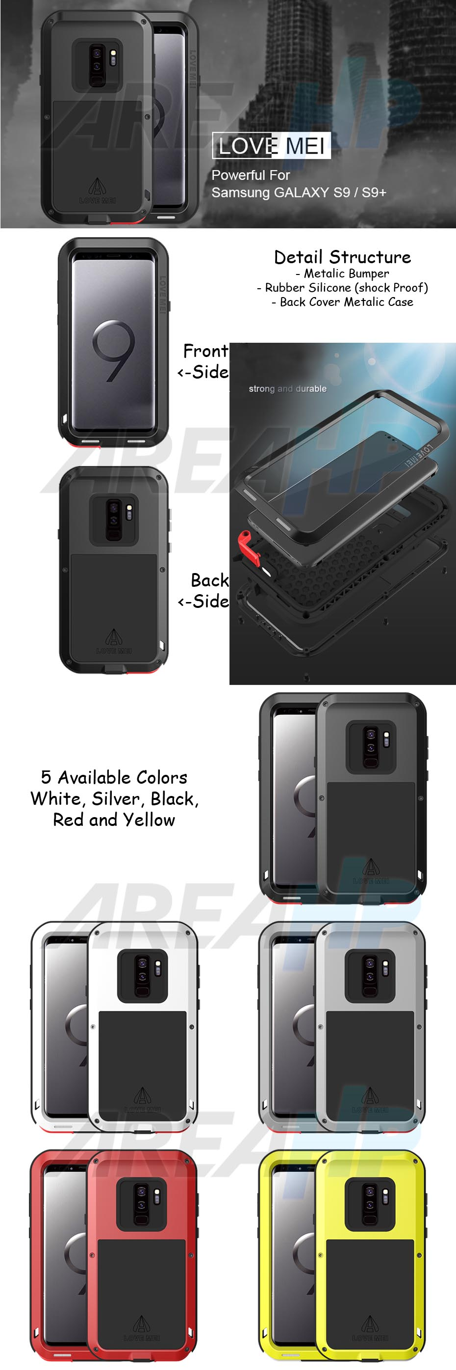 Love Mei Powerful Case for Samsung S9 Overview