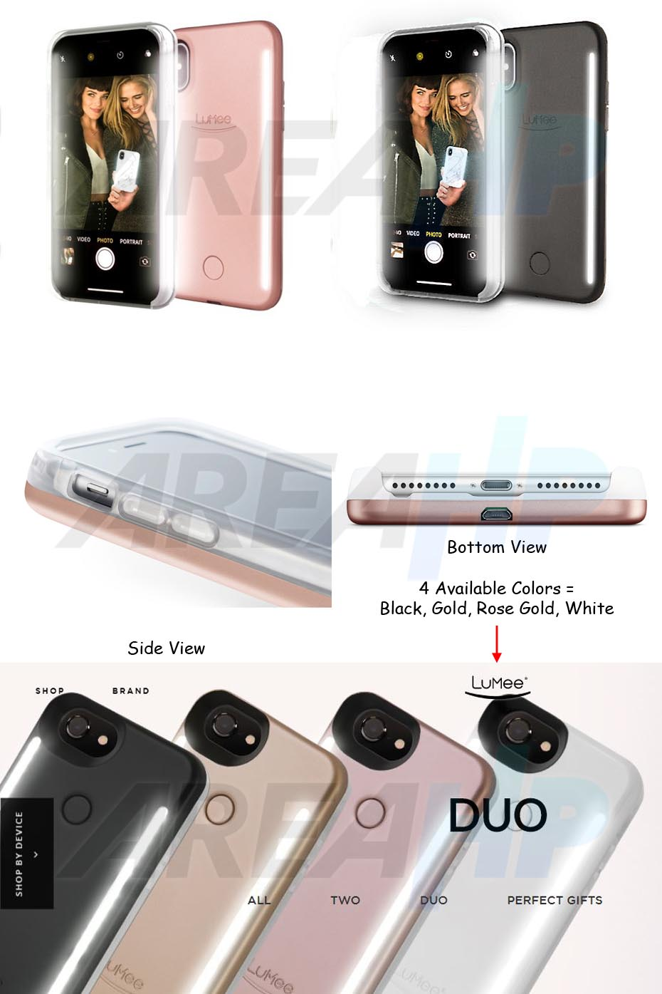 Lumee Selfie DUO LED Light Case for iPhone X Overview