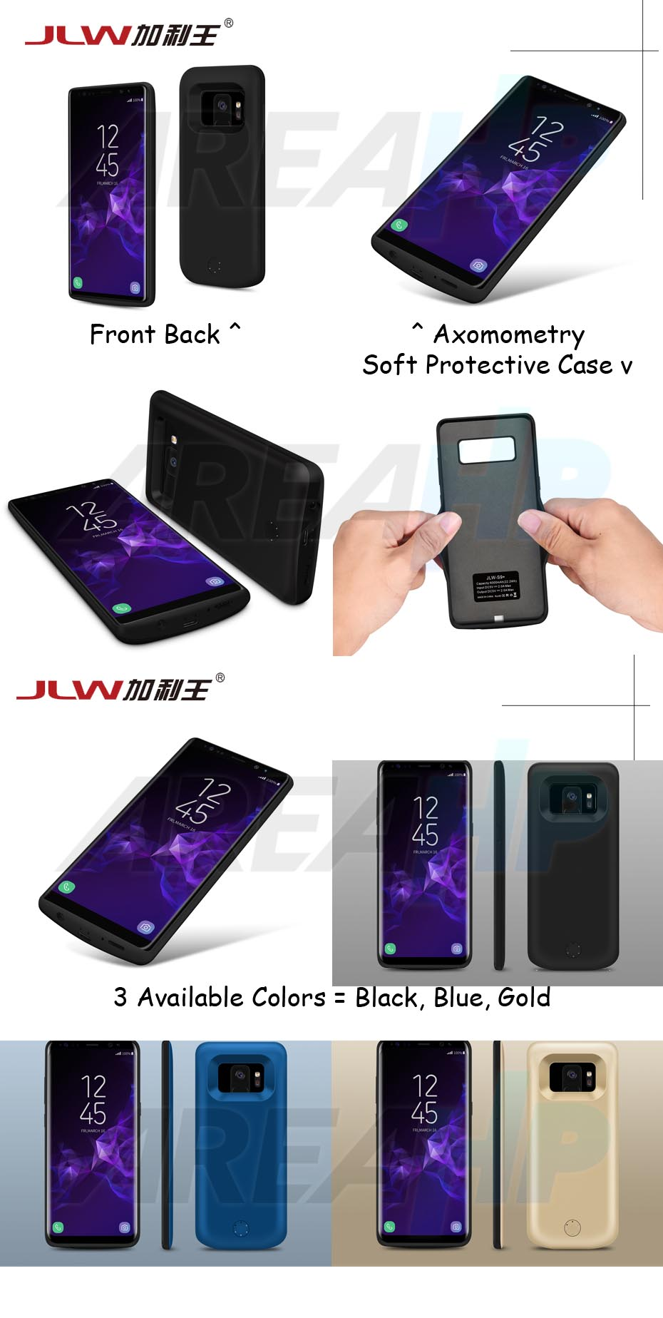 Power Case 5500mAh For Samsung S9 Overview