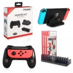 Dobe 3 in 1 Hunter Kit Charging Dock, Disc Storage, Hand Grip TNS-860 for Nintendo Switch
