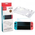 Oivo Tempered Glass with Silicone Soft TPU Case IV-SW036 for Nintendo Switch