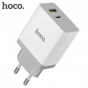 Hoco C24A Bele QC3.0 Fast Charger Type C Dual USB Port 3A