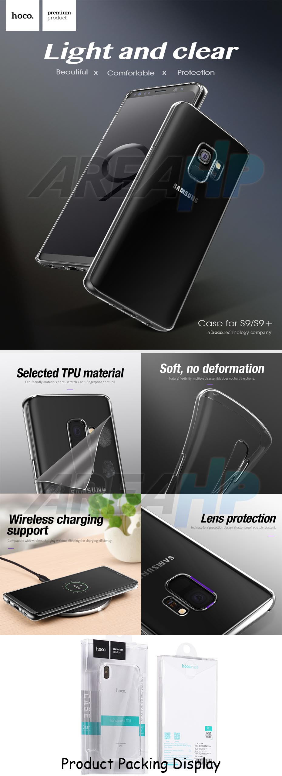 Hoco Light Series Ultra Thin TPU Case Cover Clear Transparant Overview
