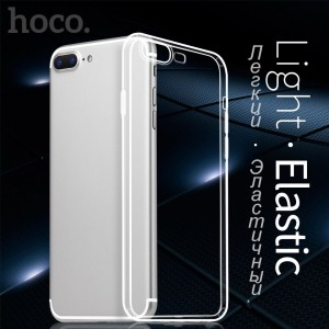 Hoco Light Series Ultra Thin TPU Case Cover Clear Transparant iPhone 7 8 Plus +