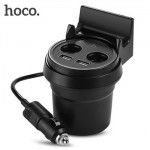 Hoco UC207 Multi Functuional Cup Shape Car Fast Charger Dual USB Port 3.1A