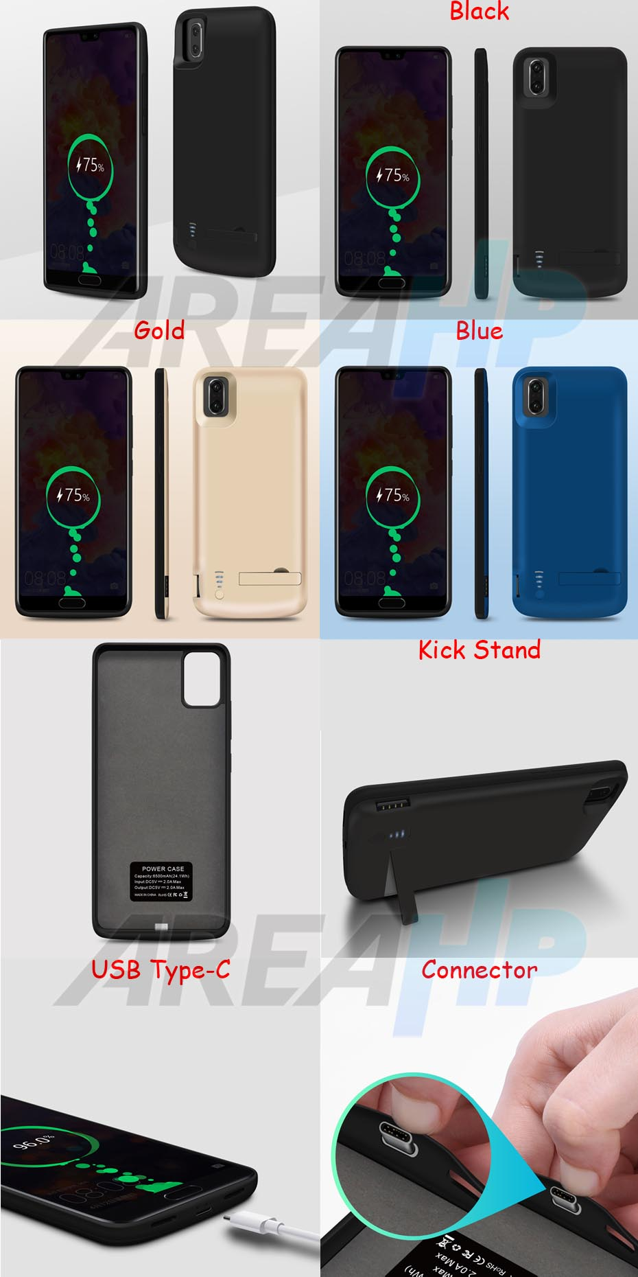 Power Case 5000mAh For Huawei P20 Overview