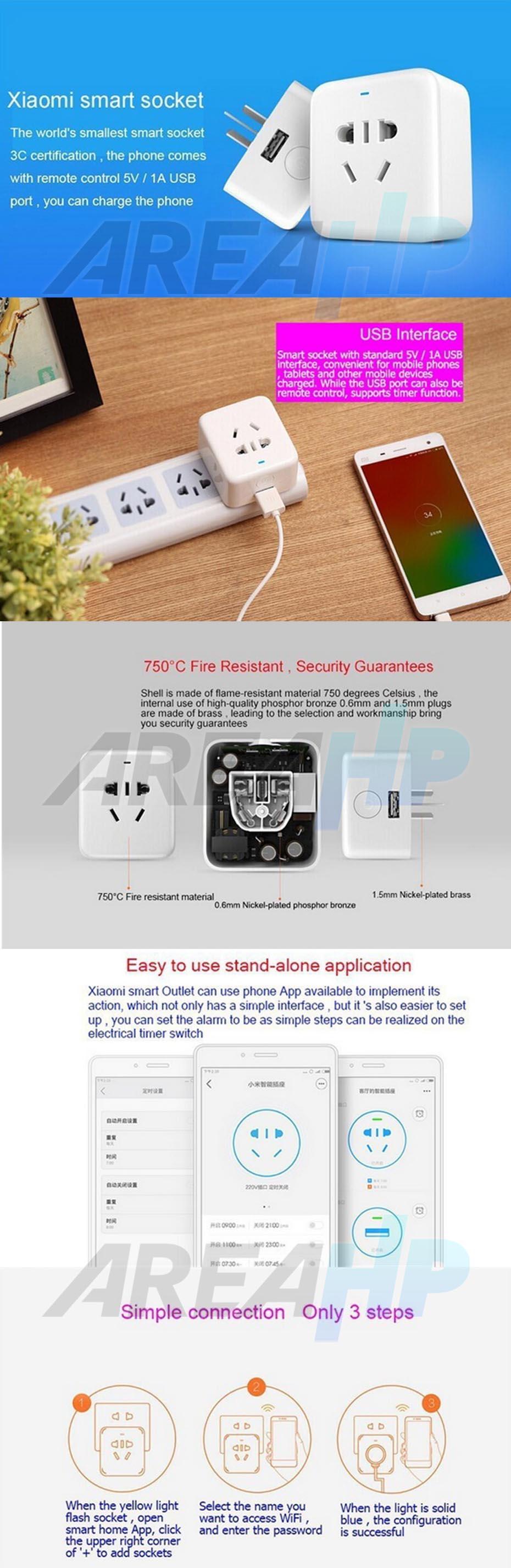 Xiaomi Intelligent Wireless Remote Control Smart Socket Original Overview