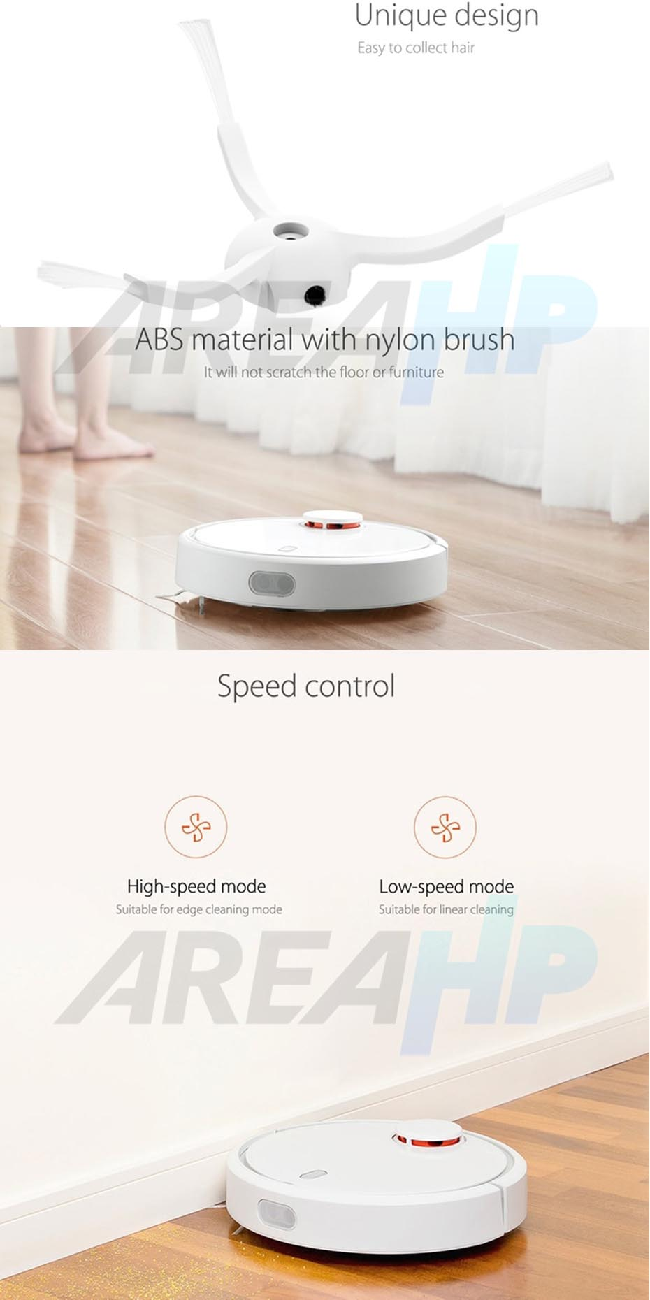 Xiaomi Mijia Robot Vacuum Cleaner Side Brush Overview