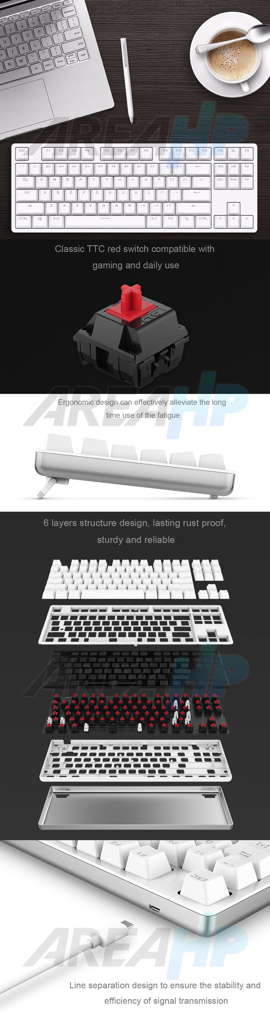 Xiaomi Yuemi Mechanical Keyboard TTC Red Switch Original Overview