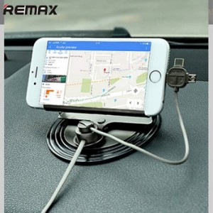 Remax Car Phone Holder Letto 360 Degrees with 3 in 1 Cable RC-FC2