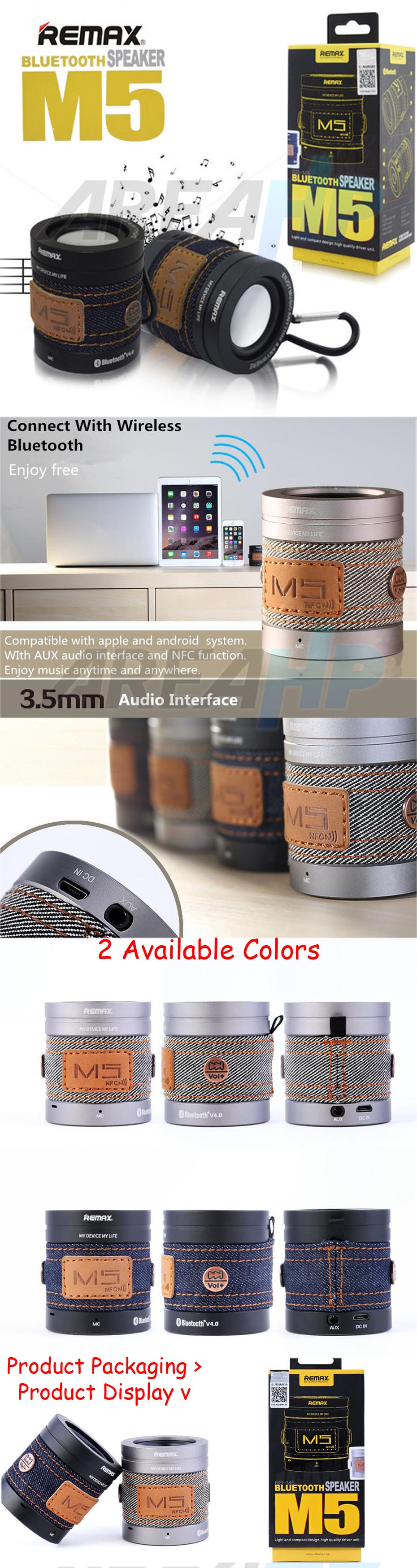 Remax Denim Mini Bluetooth Portable Speaker CSR 4