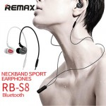 Remax Earphone Bluetooth Sport with Mic Volume Control RB-S8