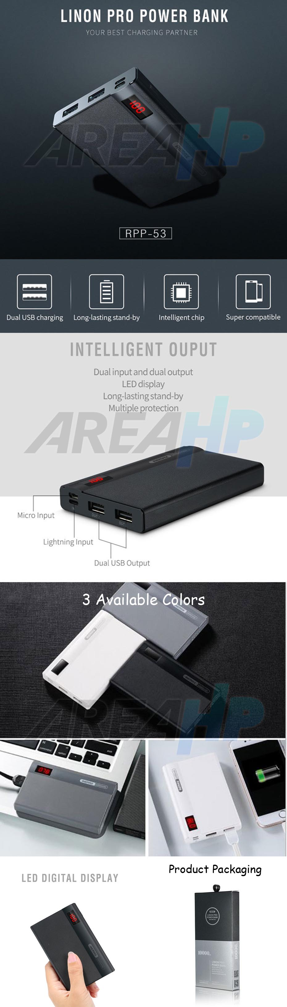 Remax Power Bank 10000 mAh Linon Pro RPP-53 Overview