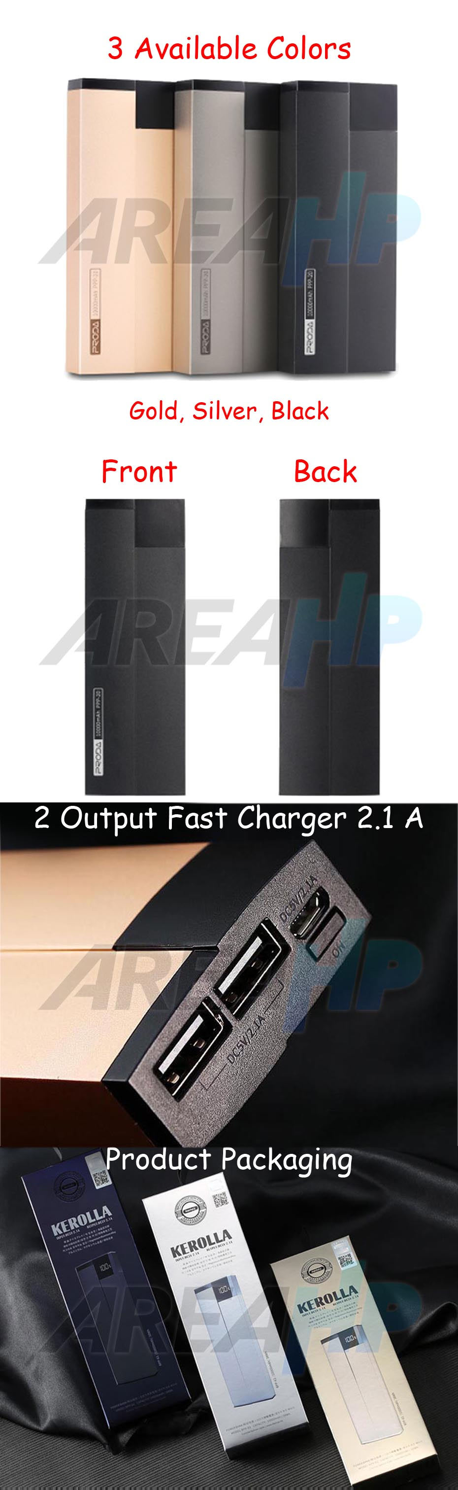 Remax Power Bank 10000 mAh Proda Kerolla PPP-20 Overview
