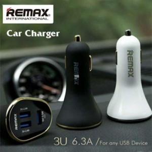 Remax Car Fast Charger 3 USB Port 6.3A RCC302