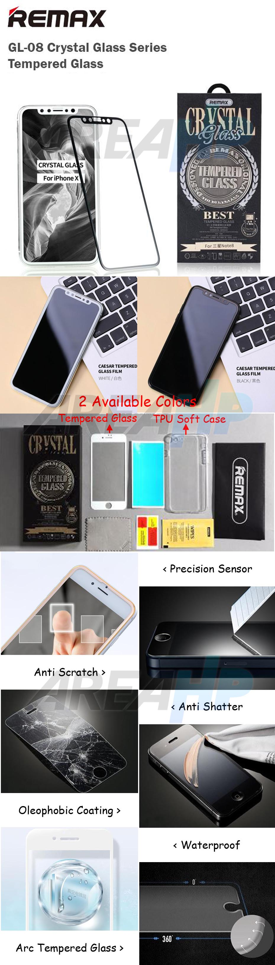 Remax Crystal Clear Set Tempered Glass iPhone GL-08 Overview