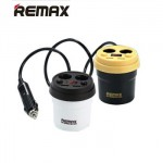 Remax Demitasse Car Fast Charger 2 USB Port 3.1A 2 Lighter CR-2XP