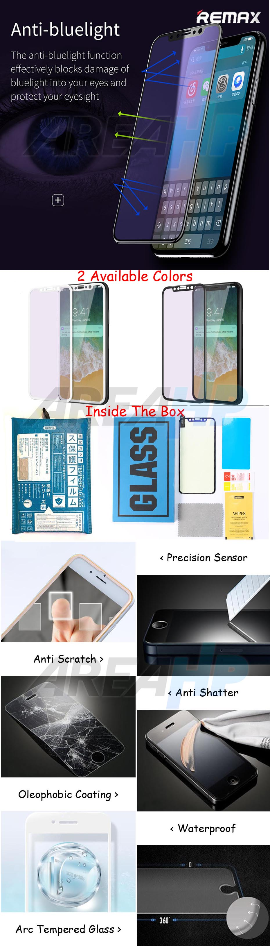 Remax Gener Anti Radiasi Blue Ray Tempered Glass iPhone GL-05 Overview