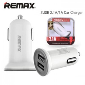 Remax Mini Car Fast Charger 2 USB Port 2.1A RCC201