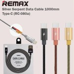 Remax Silver Serpent Type C USB Fast Charging Data Cable 1M RC-080A