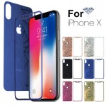 Tempered Glass iPhone X Front,Back 3D Diamond