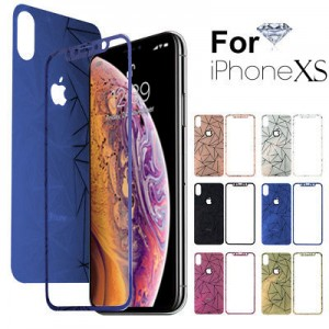 Tempered Glass iPhone XS Front,Back 3D Diamond