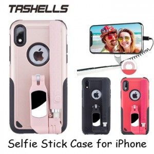 Tashells Built In Selfie Stick Case Wired iPhone XR