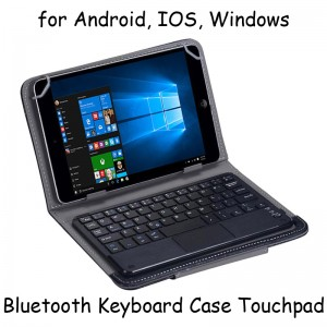Universal Keyboard Bluetooth Touchpad Case Tablet 7 8 Inch Android IOS Windows