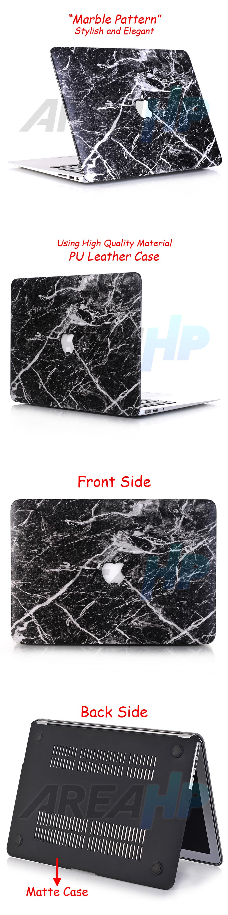 Marble Pattern Black White Case Macbook Overview