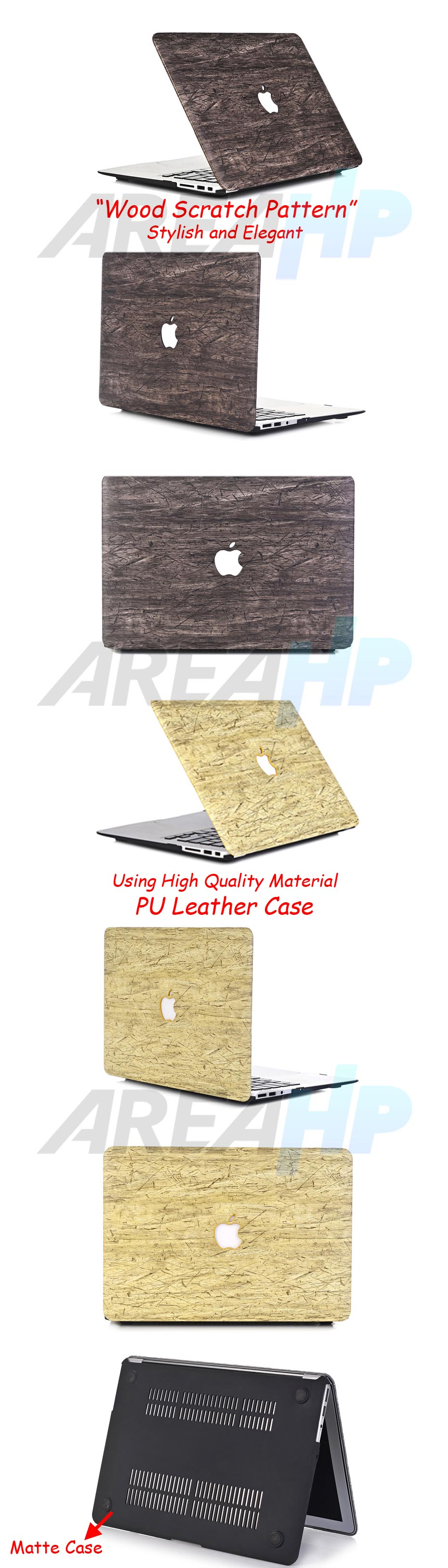 Wood Scratch Patern Case Macbook Overview