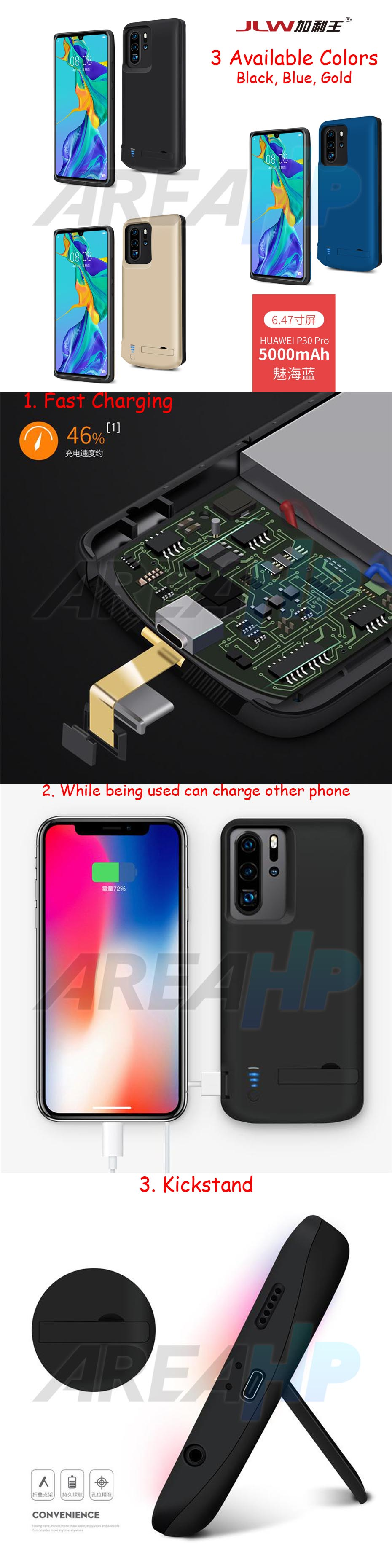 Power Case 5000mAh For Huawei P30 Pro Overview