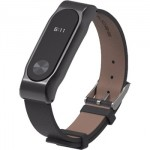 Xiaomi Band 2 Strap Clasic Buckle Leather Black
