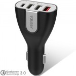 Seenda Universal Car Quick Charger 3.0 + Type C 10A 4 Port USB for All Phone, Tablet ICH-21CQ50