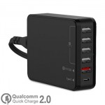 Seenda Universal Quick Charger 2.0 10A + Type C 6 Port USB for All Phone, Tablet ICH-03SQ50